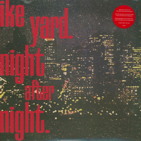 Ike Yard - Night After Night Red Record Store Day 2020 Edition