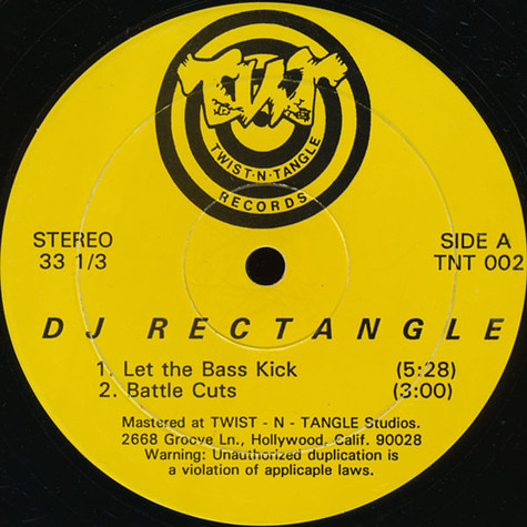 DJ Rectangle - Let The Bass Kick