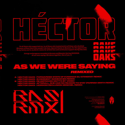 Hector Oaks - As We Were Saying Remixed