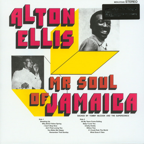 Alton Ellis - Mr Sould Of Jamaica Black Vinyl Edition