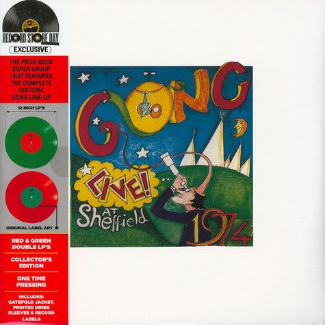 Gong - Live! At Sheffield 1974 Green & Red Record Store Day 2020 Edition
