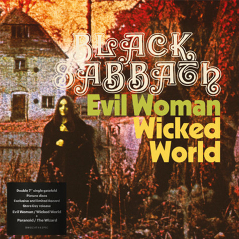 Black Sabbath - Evil Woman, Don't Play Your Games With Me / Wicked World / Paranoid / The Wizard Picture Disc Record Store Day 2020 Edition