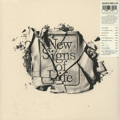 Death Bells - New Signs Of Life Smoke Vinyl Edition