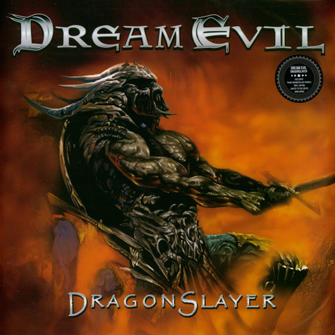 Dream Evil - Dragonslayer Orange & Black Marbled Vinyl Edition