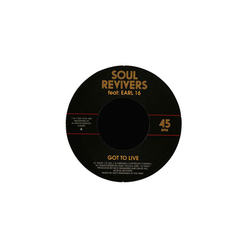 Soul Revivers Ft.Earl 16 / Manasseh - Got To Live / Version