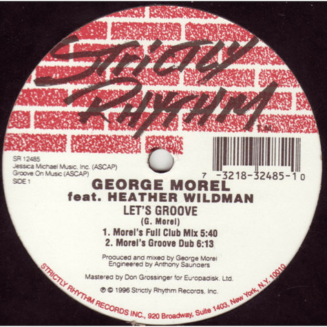 George Morel Featuring Heather Wildman - Let's Groove