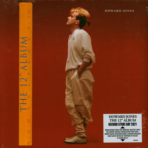 Howard Jones - The 12'' Album Translucent Red Record Store Day 2021 Edition