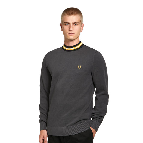 Fred Perry - Striped Neck Jumper
