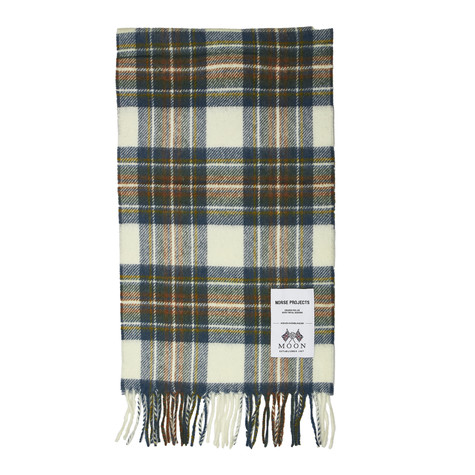 Norse Projects x Moon - Moon Checked Lambswool Scarf