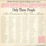 Ralph Strain - Only These People Are Permitted To By This Album
