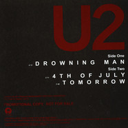 U2 - Drowning Man / 4th Of July / Tomorrow