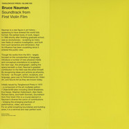 Bruce Naumann - Soundtrack From First Violin Film