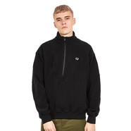 Fred Perry - Monochrome Half Zip Fleece Sweater