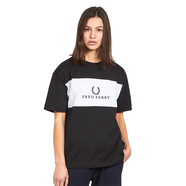 Fred Perry - W Embroidered Panel T-Shirt