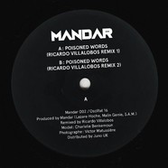 Mandar - Poisoned Words Ricardo Villalobos Remixes