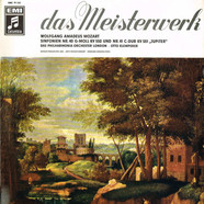 Wolfgang Amadeus Mozart: Philharmonia Orchestra Conducted By Otto Klemperer - Mozart Symphonies Nos. 40 & 41