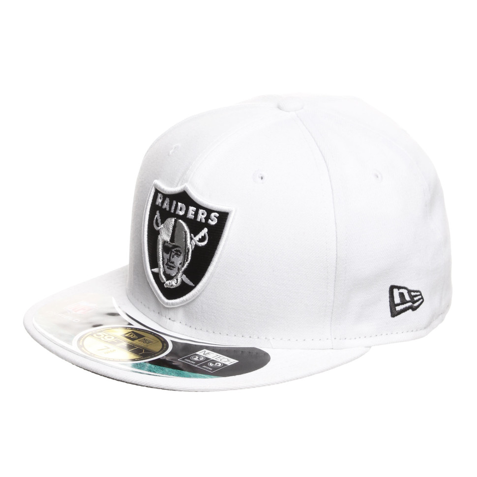New Era Cap 59FIFTY OAKLAND RAIDERS ON FIELD TEAM Black GREY Hat Fitted 5950
