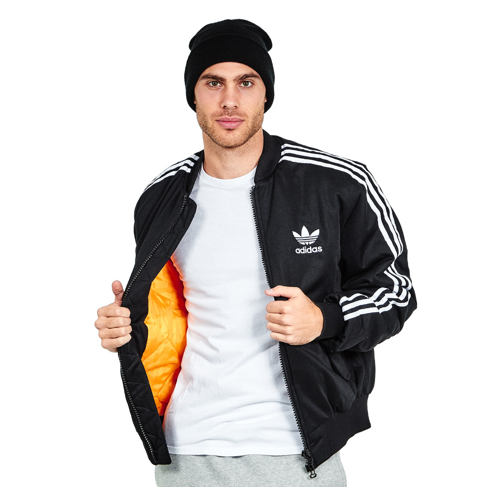 adidas MA1 Padded Mate Bomber Jacket (Black) | HHV