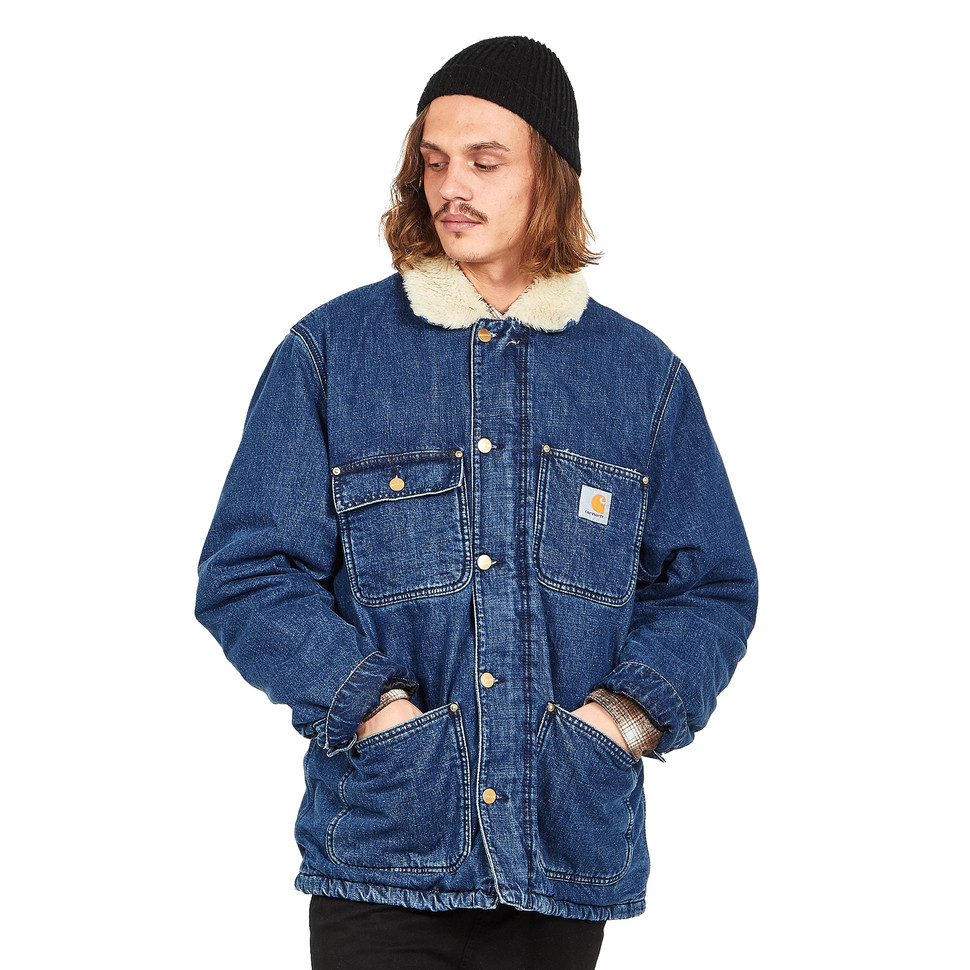 "Carhartt WIP - Fairmount Coat ""Edgewood"" Blue Denim, 12 oz"
