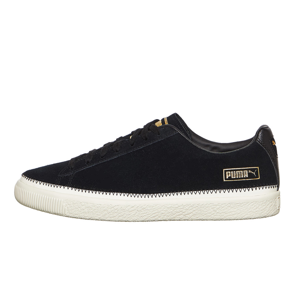 PUMA Suede Trim (Puma Black whisper White puma Team Gold