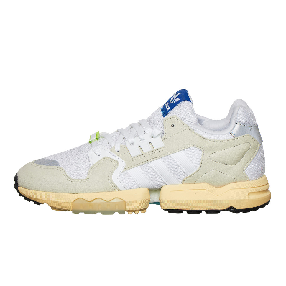 Espacioso seriamente Preferencia  adidas - ZX Torsion (Footwear White / Raw White / Easy Yellow) | HHV