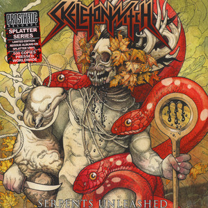 Skeletonwitch - Serpents Unleashed Yellow With Black & Oxblood Splatter Vinyl Edition